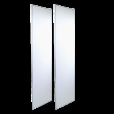 2 x White Sliding Doors