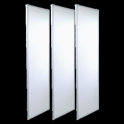3 x white sliding doors